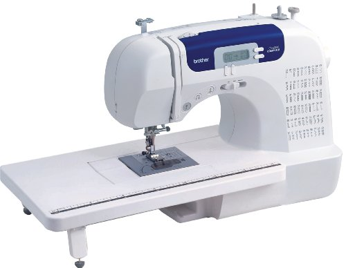 Brother cs-6000i Electric - Sewing Machine (White, Sewing, 1 Step, LED, Buttons, 850 RPM)