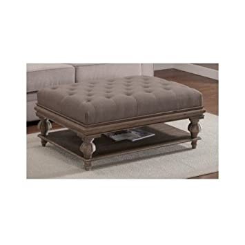 Attractive Ottoman Storage Bench, Grey Tufted Ottoman Coffee Table Bench And Shelf For  Storing Living Room Part 18