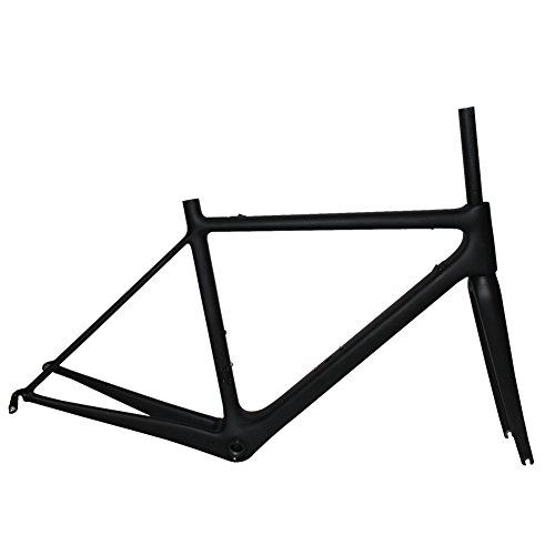 FASTEAM Super Light Carbon Bike Frame Racing Road Bicycle Frame with Fork Seatpost Headset clamp in Size 54cm
