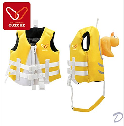 Kids Swimming Vest Comfortable Fun Safe Floating Toddler Swim Water Play (Yellow)