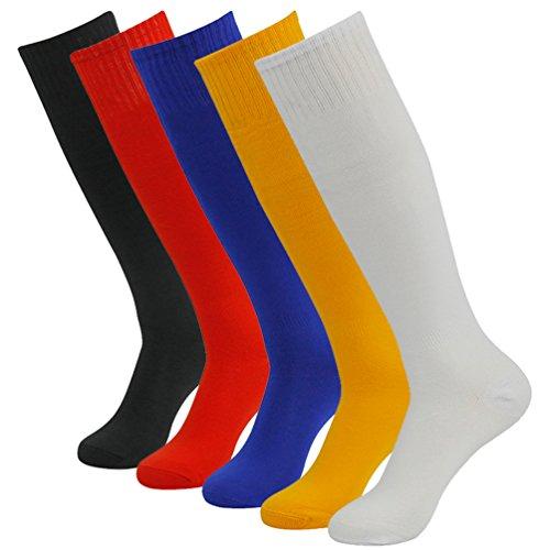 Getspor Soccer Socks Unisex Team Sports Long Tube Sock Knee High 2/4/6/12 Pairs – DiZiSports Store