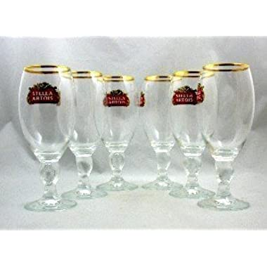 Stella Artois Beer Chalice Set of 6, 33cl