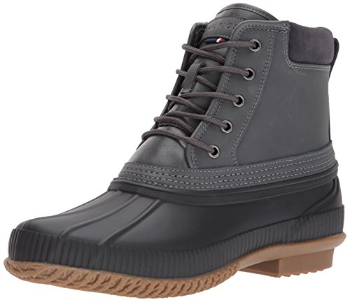 Tommy Hilfiger Men's Casey Rain Boot, Grey, 11 Medium US