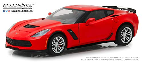Greenlight 18251 1: 24 2019 Chevrolet Corvette Z06 Coupe - Torch Red - New Tooling, Multi ()