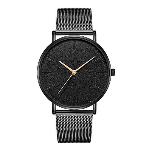 UMFunLady Women Watch Mesh Band Stainless Steel Analog Quartz Wristwatch Minimalist (G) ()