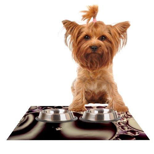 KESS InHouse Ingrid Beddoes Deep Purple  Feeding Mat for Pet Bowl, 18 by 13-Inch