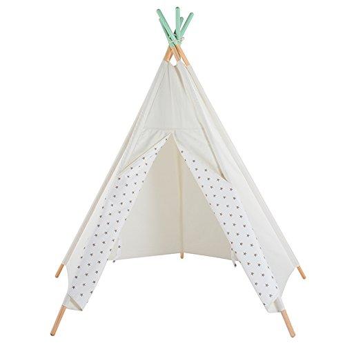 Erstklassiges Grauer Star Indianerzelt Tipi aus Spitze für Kinder. Kinder Spielzelt / Spielhaus / Wigwam von Integrity co