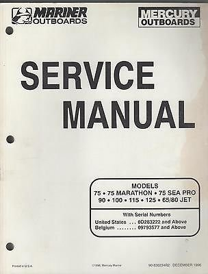1997 MARINER/MERCURY OUTBOARD (see cover list) SERVICE (Mercury Outboard Parts Manual)