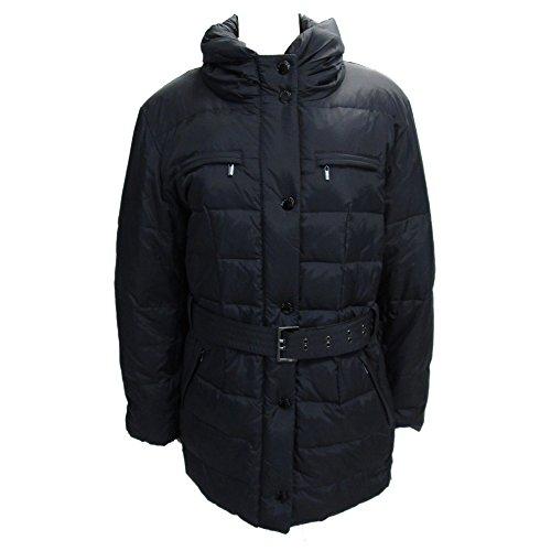 Portrait Women's Down Puffer Coat Pillow Collar Belted Jacket Plus Size 2X ()