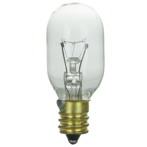 Sunlite 15T7/C Incandescent 15-Watt, Candelabra Based, T7 Tubular Bulb, Clear by Sunlite