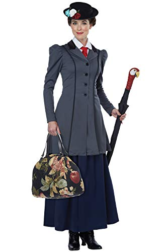 Favorite Halloween Costumes (California Costumes Women's English Nanny - Adult Costume Adult Costume,  -Gray/Navy,)