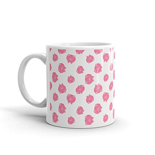 Pink Pig Piggy Bank Seamless Pattern Symbol Of The New Year 2019 On Chinese Lunar Calendar Favorite Drink Mug 11 Oz Ceramic