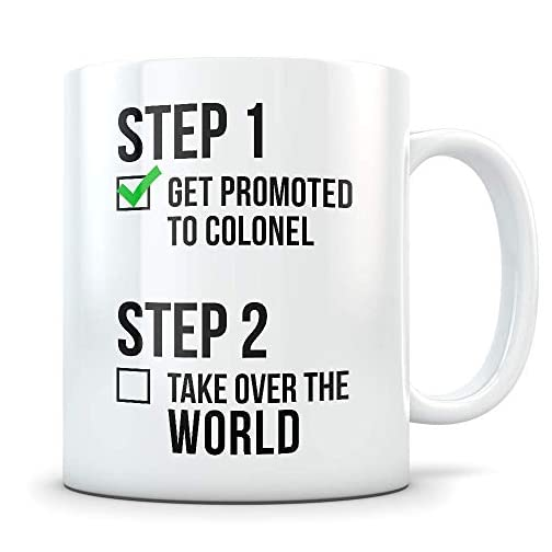 Colonel Promotion Gift for Men and Women - New Military Ranks Promoted Congratulations Graduation Coffee Mug for Army… |