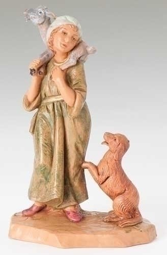 Fontanini Ethan the Shepherd with a Dog Italian Nativity Village Figurine
