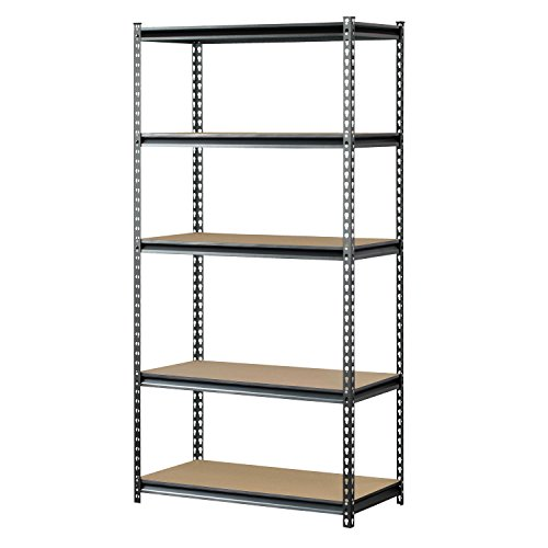 Muscle Rack UR361872PB5PAZ-SV Silver Vein Steel Storage Rack, 5 Adjustable Shelves, 4000 lb. Capacity, 72