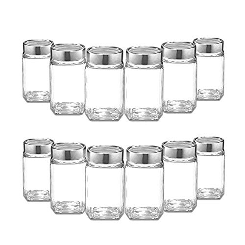 Ash & Roh Cube Glass Jar Air Tight Food Storage jar,Kitchen Pantry Preservation jar and Container,Glass Canister,Dried masla Storage Jars,Dry Fruit Storage Jar 300 Ml (6) Price & Reviews