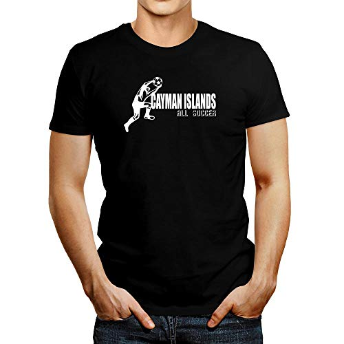 (Idakoos Cayman Islands Soccer Shape T-Shirt L Black)