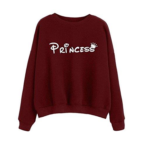 Singleluci Womens Letter Print Long Sleeve Hoodie Blouse Sweatshirt Pullovers