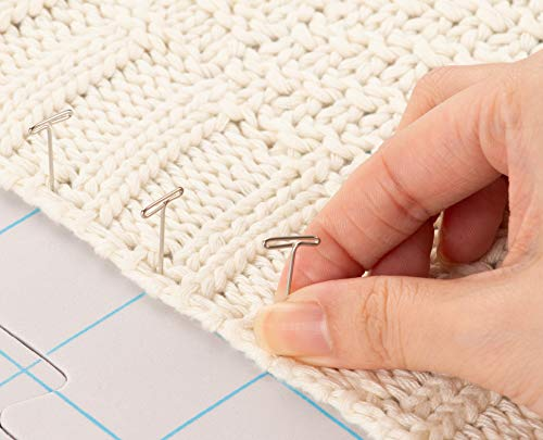 Juvale 9-Pack Thick Blocking Board Mats with 200 T-Pins and Storage Bag for Knitting and Crochet, 12.5 Inches by Juvale (Image #1)