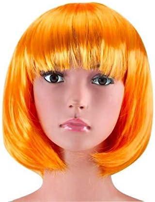 Arancione Parrucca Caschetto Bob Multicolore Il