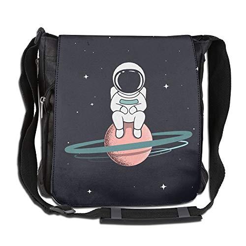 - SARA NELL Messenger Bag,astronaut Sits On Saturn,Unisex Shoulder Backpack Cross-body Sling Bag