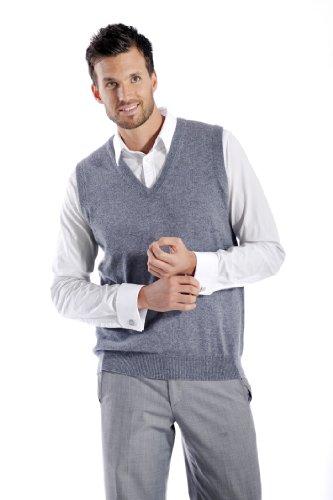 Men's Cashmere Vest (Black, Large) by Cashmere Boutique