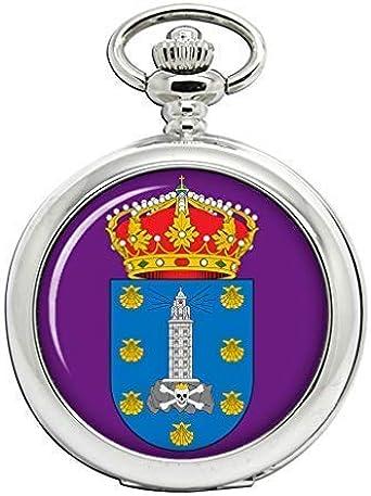 A Coruna (España) Full Hunter reloj de bolsillo: Amazon.es: Relojes