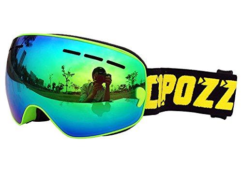 COPOZZ G3 Kids Ski Goggles For Snow Snowboard Snowmobile Skate For Boy Girl Toddler Child Junior Anti Fog UV Protection OTG Over Glasses Double Layer Cool Lens
