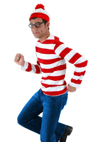 Costumes (elope Where's Waldo Adult Costume Kit, Red/White,)