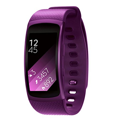 GBSELL Purple Luxury Silicone Watch Replacement Band Strap For Samsung Gear Fit 2 SM-R360 Wristband Small