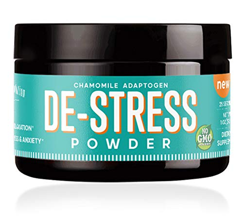 DE-Stress Powder - Stress Relief Supplement, Anxiety Relief, Natural Calm & Anti-Anxiety Support - (25 Servings) w/L-Theanine, Ashwagandha, Chamomile, GABA & Valerian - 0 Calories (Revolution Bohemian)