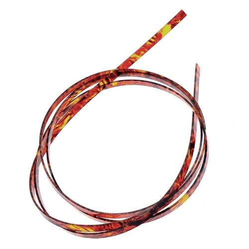 Kmise A8708 50 Piece 5 ' Guitar Binding Purfling Flame Celluloid 10mm Width by Kmise