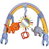 Baby Travel Play Arch Musical Animal Doll Rattles Buggy Clip Toy Accessory