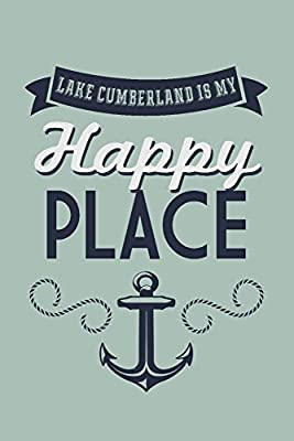 Lake Cumberland, Kentucky is my Happy Place - Anchor Design (blue on green)