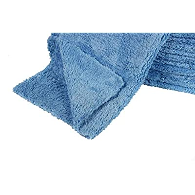 LANTEENSHOW (6-Pack) 16x16 inches Professional Korea 80/20 Blend Super Ultra Plush Thick Microfiber Cleaning Towels for Car Wash,500 GSM Edgeless (16x16 Inches,Blue Color): Automotive