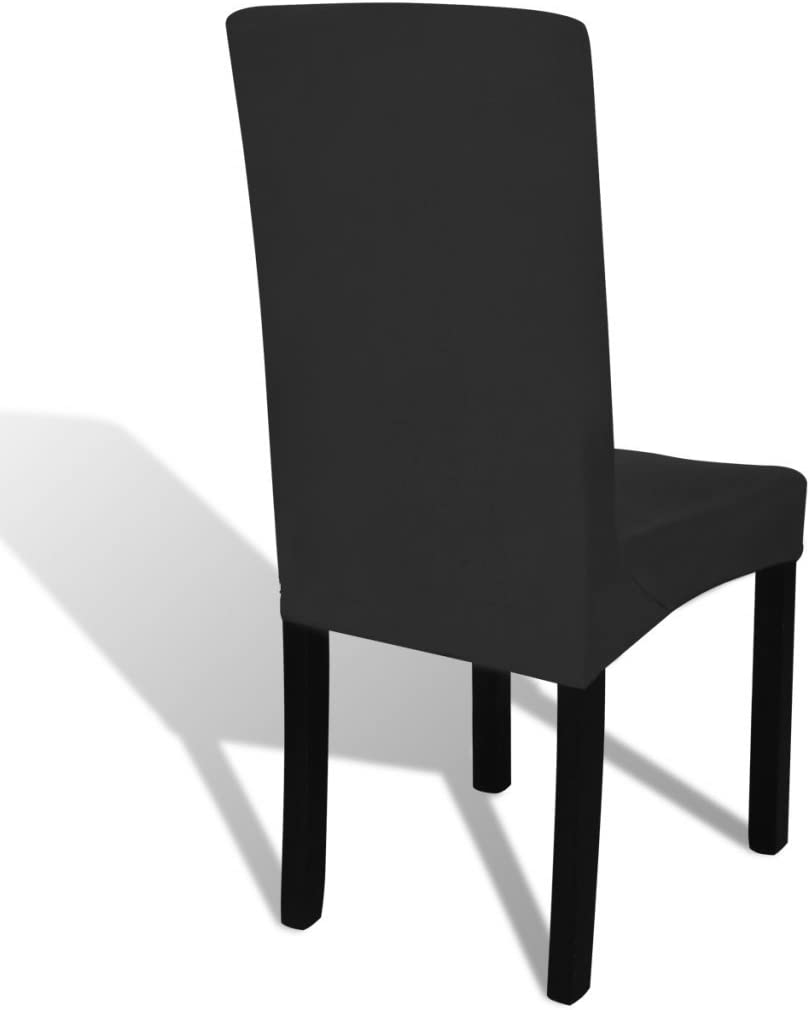 vidaXL 4x Straight Stretchable Chair Cover Green Universal Seat Slipcover Black