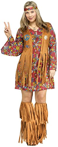 Adult Peace & Love Hippie Costume - Plus 16-20