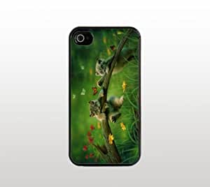 Kittens with Butterflies Snap-On Case for Apple iPhone 5 - Hard Plastic - Black - Cool Custom Cover - creative design
