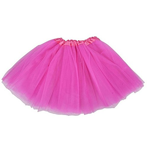 Hot Pink Tutus (Top Rated Classic Elastic Ballet-Style Adult Tutu Skirt, by BellaSous. Great princess tutu, adult dance skirt, petticoat skirt or pettiskirt tutu for women. Tulle fabric - Hot Pink tutu)