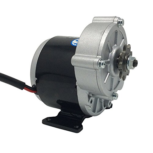 BEMONOC 24 Volt 350 Watt MY1016Z3 Gear Reduction Electric Motor with 9 Tooth Sprocket (18 Volt Dc Motor)