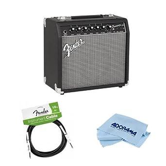 fender champion 20 guitar amplifier with 8 speaker bundle with fender performance. Black Bedroom Furniture Sets. Home Design Ideas