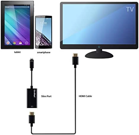kwmobile Adaptador de Micro USB a HDMI - Adaptador slimport - Convertidor para conectar móvil o Tablet al televisor - Conector de Smartphone a TV: Amazon.es: Electrónica