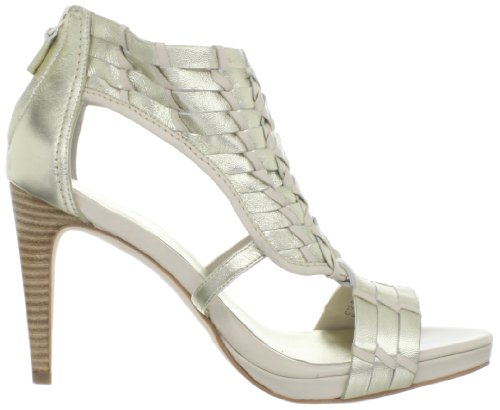 Cole Haan Kvinna Minka Luft Sandal Vitt Guld Metallic / Vit Furu