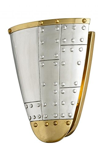 - Troy Lighting Fly Boy 1-Light Wall Sconce - Antique Silver with Vintage Aluminum and Aged Brass Finish