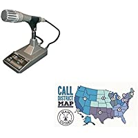 Kennwood Desktop microphone, 8-pin round, deluxe and Ham Guides TM Pocket Reference Card Bundle