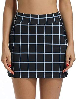 Jessie Kidden - Falda de Golf Plisada para Mujer con Pantalones ...