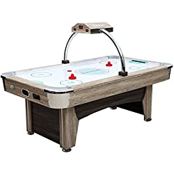 Harvil Beachcomber 7 Foot Indoor Air Hockey Table with Overhead Scorer, Leg Levelers, and 4 Pucks and 2 Pushers