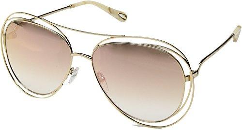 Chloe Women's Carlina - CE134SL Gold/Marble/Revo Rose Peach Lens One - Chloe Sunglasses