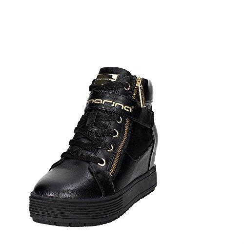 meti 2017 black zeppa con nappa autunno Fornarina nero PIFMJ9606WVA0000 interna sneakers nuova Nero inverno collezione 2016 06RqCwY
