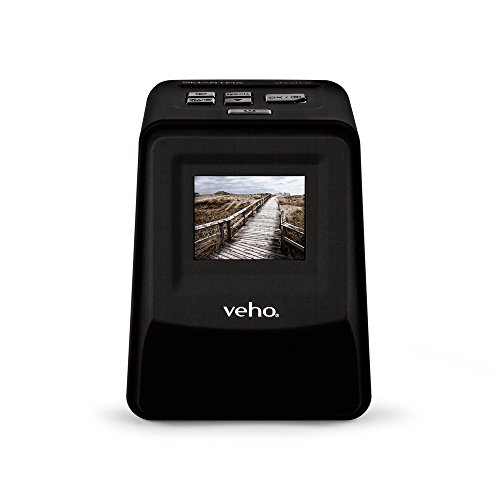 "Veho Smartfix Portable Stand Alone 14 Megapixel Negative Film & Slide Scanner with 2.4"" Digital Screen and 135 Slider Tray for 135/110/126 Negatives Compatible with Mac/PC – Black (VFS-014-SF) by Veho"